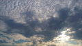 Gray clouds in the sky Royalty Free Stock Photo
