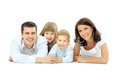 Photo of happy family Stock Images