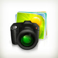 Photo, icon Royalty Free Stock Photos