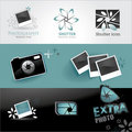 Photo icons set Royalty Free Stock Photography