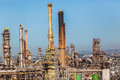 Oil Fuel Refinery Plant Detail Royalty Free Stock Photo