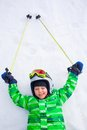 A photo of a junior skier Royalty Free Stock Images