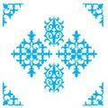 Set of Kazakh national ornaments and patterns