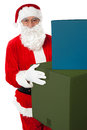 Photo of kind Santa Claus giving xmas presents Stock Images