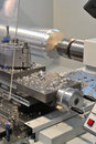 Photo of a lathe cnc milling Royalty Free Stock Image