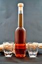 Photo liqueur bottle Royalty Free Stock Images