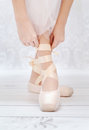 Photo of little Ballerina's Feet Stock Images