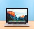 Photo of Macbook pro Royalty Free Stock Photo
