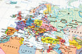 Photo of a map of Europe Royalty Free Stock Photo