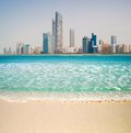 Photo metropolis on the gulf coast in dubai Royalty Free Stock Image