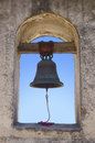Photo mission bell historical missionary building Stock Photography