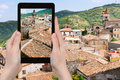 Photo of old houses in Castiglione di Sicilia Royalty Free Stock Photo
