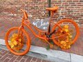 Colorful Autumn Bicycle in Georgetown Royalty Free Stock Photo