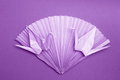Photo origami card paper cranes fan stock photo purple decoration on dark violet background valentines day or wedding ornament Stock Photography