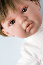 Photo plastic female doll portrait Stock Image