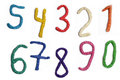 Photo of plasticine numbers Royalty Free Stock Photo