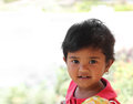 Photo of pretty and happy indian girl child Stock Image