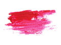 Photo red grunge brush strokes oil paint isolated on white Royalty Free Stock Photo