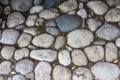 Photo of the road exactly paved with stones Royalty Free Stock Photo