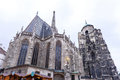 Photo of saint stephen`s cathedral and christmas market Royalty Free Stock Photo