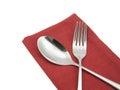 Photo silverware fork napkin Royalty Free Stock Photo
