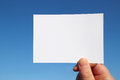 Photo sized white card in the blue sky Royalty Free Stock Photo