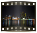 Photo slide of Detroit skyline Royalty Free Stock Photo