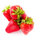 Photo of strawberry on white background closeup clean Stock Photography