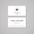 Photo studio business card design concept. Photo studio logo with photo camera, crown and heart. Vintage, hipster and retro