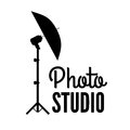 Photo studio or professional photographer logo template Royalty Free Stock Photo