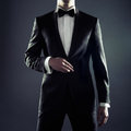 Photo stylish man elegant black suit Royalty Free Stock Images