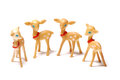 Photo taken some deer replicas against white backdrop Royalty Free Stock Images