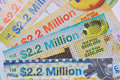 Photo taken some lottery tickets Royalty Free Stock Image