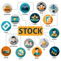 Photo and vector stock concept video with working process elements illustration Stock Image