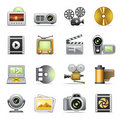 Photo & video icons Stock Photos