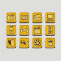 Photo and video icons Royalty Free Stock Photography