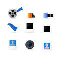 Photo and video icons set Royalty Free Stock Photo