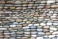 Photo of the wall exactly paved with stones summer Stock Photography