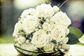 Photo of white wedding bouquet vintage Royalty Free Stock Photography