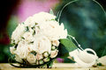 Photo of white wedding bouquet vintage Royalty Free Stock Photos