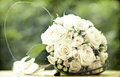 Photo of white wedding bouquet vintage Royalty Free Stock Photo
