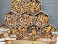 Honeycomb hexagon wood blocks