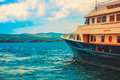 Photo of yacht on sea at daytime in porto montenegro Royalty Free Stock Photos