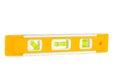 Photo of yellow spirit level isolated on white background Royalty Free Stock Photo