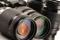 Photo zoom lenses Stock Photo
