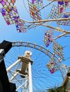 Ferris wheel amusement park in Shanghai city, China. Royalty Free Stock Photo