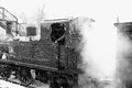 Photograph steam locomotive snow hdr Stock Photo