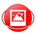 Photograph vector illustration, Red icon