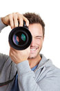 Photographe prenant des photos Image stock