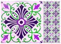 Photographe of traditional portuguese tiles in purple Royalty Free Stock Photo